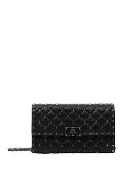 Rockstud Spike Chain Bag, Black by Valentino Garavani