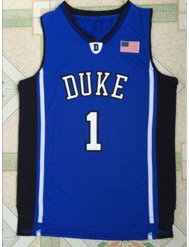 Kyrie Irving Jersey #1 Duke Blue Devils Throwback Retro Basketball Jerseys Blue by Unbranded
