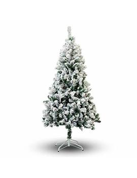 Perfect Holiday Christmas Tree, 2', Flocked Snow by Perfect Holiday