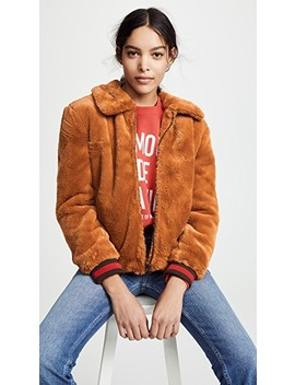 Faux Fur Bomber by J.O.A.
