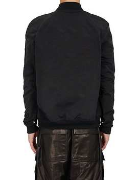 Cotton Blend Raglan Bomber Jacket by Rick Owens