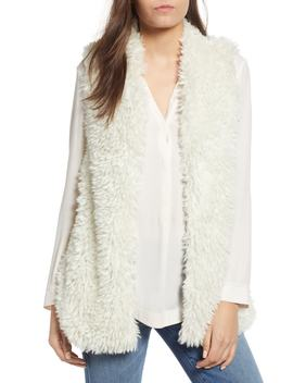 Fuzzy Chic Faux Shearling Vest by Dylan