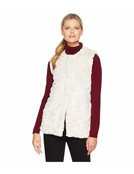 Antique White Faux Fur Chic And Cozy Vest by Dylan By True Grit