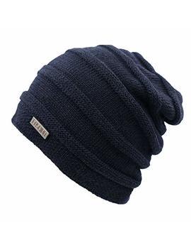 L Lmoway Men Women Slouchy Beanie Winter Warm Knit Hat Fleece Lined Skull Ski Cap by L Lmoway