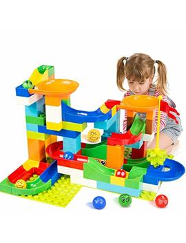 Battop Marble Run Building Blocks Construction Toys Set Puzzle Race Track For Kids 97 Pieces by Battop