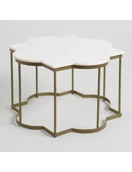 White Marble Arabesque Coffee Table by World Market