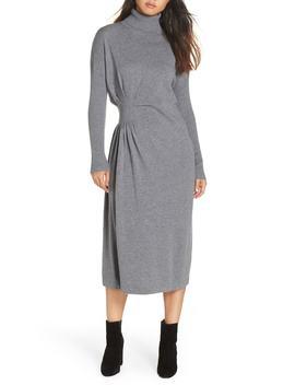 Hepburn Draped Sweater Dress by Caara