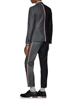 Striped Two Tone Wool Trousers by Thom Browne