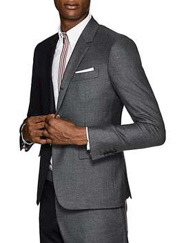 High Armhole Two Tone Wool Three Button Sportcoat by Thom Browne