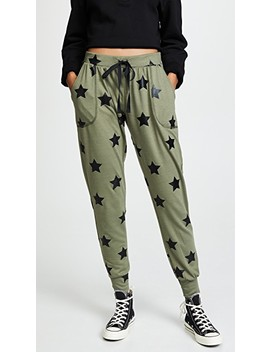 Foil Printed Jogger Pants by Terez