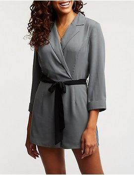 Blazer Belted Romper by Charlotte Russe