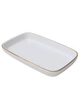 Better Homes And Gardens Gold White Tray by Better Homes & Gardens