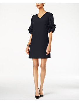 Ruffle Sleeve A Line Dress, Created For Macy's by Alfani
