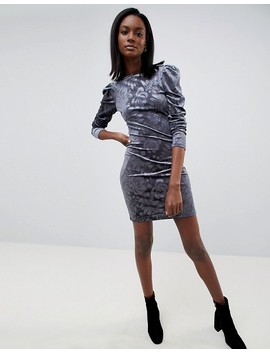 Oasis Embossed Puff Sleeve Dress by Oasis