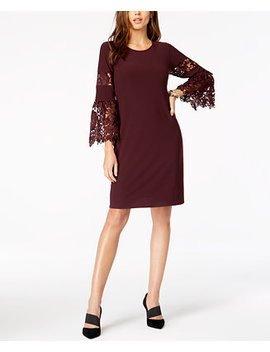 Lace Sleeve A Line Dress, Created For Macy's by Alfani