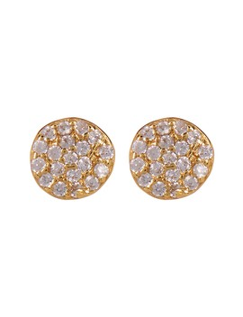 Pave Cz Disc Stud Earrings by Nordstrom Rack
