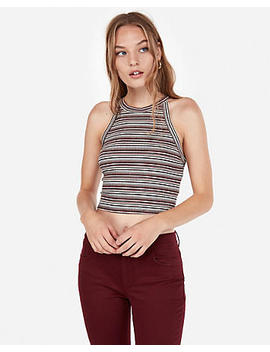 Express One Eleven Striped Abbreviated Tank by Express