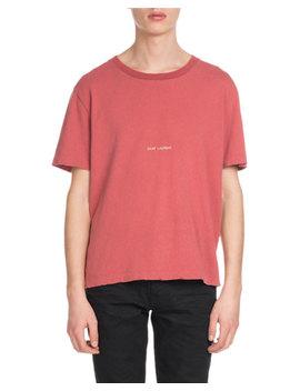 Men's Rive Gauche Enzyme Wash T Shirt by Saint Laurent