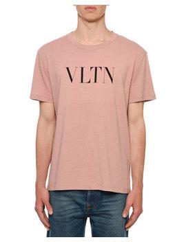 Men's Vltn Logo Typographic T Shirt by Valentino