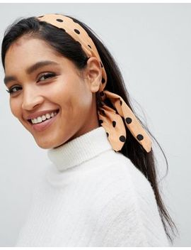 Asos Design Wire Headband In Spot Print by Asos Design