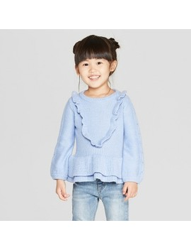 Toddler Girls' Reversible Pullover Sweater   Genuine Kids® From Oshkosh Blue by Genuine Kids From Osh Kosh