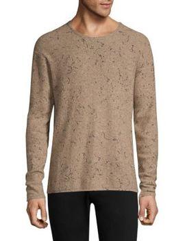 Oversize Wool & Cashmere Crewneck Sweater by John Varvatos