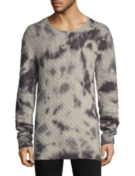 Wool & Cashmere Tie Dye Crewneck Sweater by John Varvatos