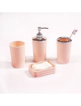 Mainstays Kylie 4 Piece Bath Accessory Set, Multiple Colors by Mainstays