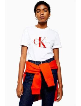 Satin Logo T Shirt By Calvin Klein by Topshop