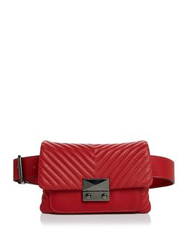 Skinny V Quilt Belt Bag   100 Percents Exclusive by Aqua
