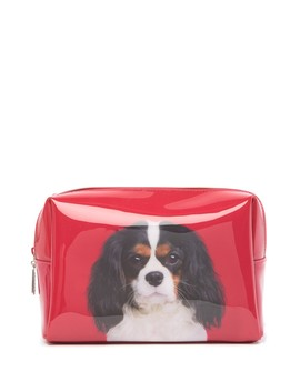 Cavalier On Red Large Beauty Bag by Catseye London