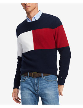 Men's Clayton Colorblocked Sweater, Created For Macy's by Tommy Hilfiger