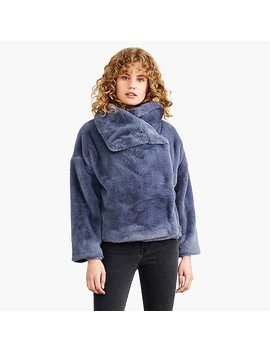 Nevereven Funnelneck Faux Fur Cropped Jacket by J.Crew