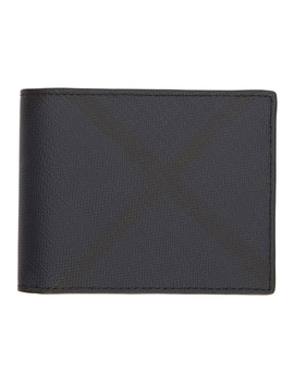 Navy & Black London Check Hipfold Wallet by Burberry