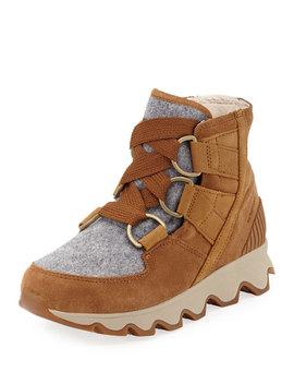 Kinetic Short Waterproof Suede/Felt Hiker Boots by Sorel