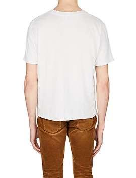 Logo Flag Cotton T Shirt by Saint Laurent