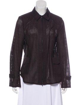 Laser Cut Zip Up Jacket by Akris Punto