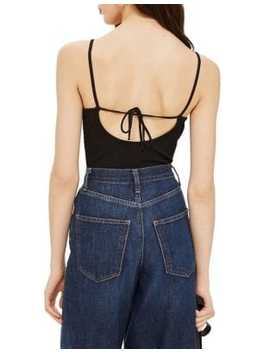 Strappy Lace Trim Bodysuit by Topshop