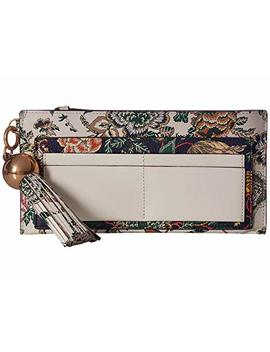 Floral Tassel Top Zip Wallet by Tory Burch