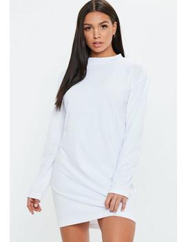 White Long Sleeve T Shirt Dress by Missguided