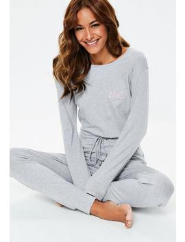 Barbie X Missguided Gray Loungwear Jumpsuit by Missguided