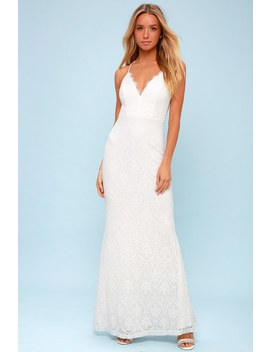 Alice White Lace Backless Maxi Dress by Lulus