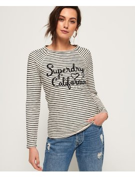 Blossom Raglan Applique Top by Superdry