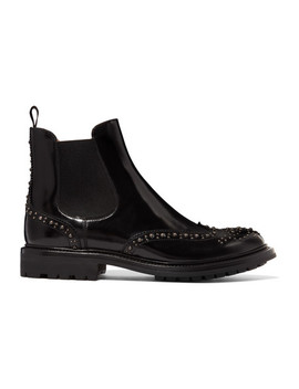 Aura Met Studded Glossed Leather Chelsea Boots by Church's