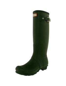 Hunter Women's Original Tall Green Knee High Rubber Rain Boot   9 M by Hunter
