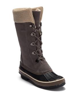 Sun Peak Waterproof Suede Knit Faux Fur Lined Boot by Northside