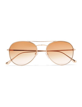 Aviator Style Rose Gold Tone Sunglasses by Tom Ford
