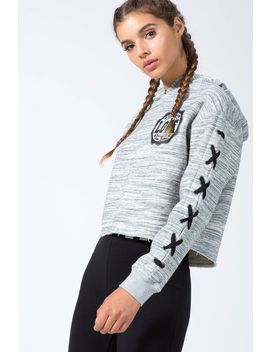 Work It Out Lace Up Sweatshirt by A'gaci