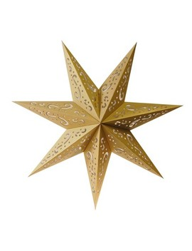 3ct Paper Lantern 7 Point Gold Star by Lumabase