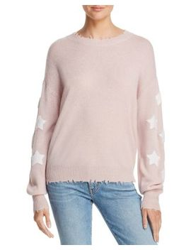 Star Sleeve Distressed Cashmere Sweater   100 Percents Exclusive by Aqua Cashmere